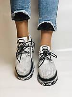 Evromoda. Женские кеды-кроссовки белые из натуральной кожи.Турция. Размер 36.37.39.40, фото 2