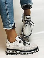 Evromoda. Женские кеды-кроссовки белые из натуральной кожи.Турция. Размер 36.37.39.40, фото 3