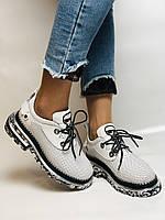 Evromoda. Женские кеды-кроссовки белые из натуральной кожи.Турция. Размер 36.37.39.40, фото 10