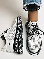Evromoda. Женские кеды-кроссовки белые из натуральной кожи.Турция. Размер 36.37.39.40, фото 8