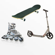 Ролики, скейтборды и самокаты, общее