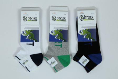 Шкарпетки чоловічі укорочені Bross з махрової підошвою