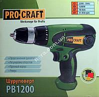 Сетевой шуруповерт PROCRAFT PB1200 (1200 Вт)