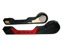 Карманы обивки двери (2 шт) ВАЗ-2101-07 под динам.R16 (красный) (Б.Ц. Автокомфорт)