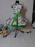 Детское платье в в цветочек с пышным подъюбником. Размер универсальный. Любые цвета и размеры., фото 2