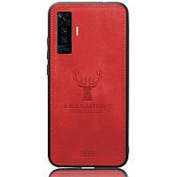 Чехол Deer Case для Vivo X50 Red