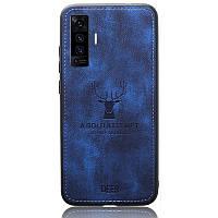 Чехол Deer Case для Vivo X50 Blue