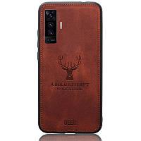 Чехол Deer Case для Vivo X50 Brown