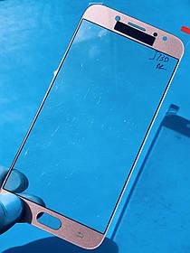 Стекло корпуса для Samsung J730 Galaxy J7 (2017) розовое(оригинал Китай)