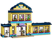 Конструктор для девочек Friends 10166: двухэтажная школа Хартлейк, три куколки