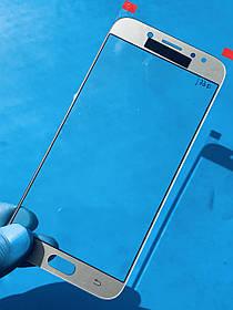 Стекло корпуса для Samsung J730 Galaxy J7 (2017) золотистое(оригинал Китай)