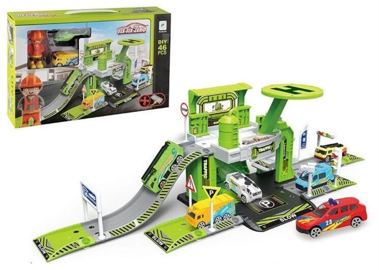 Детский игровой гараж six-six-Zero (660 А-84) 46 деталей