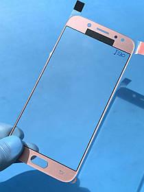 Стекло корпуса для Samsung J530 Galaxy J5 (2017) розовое(оригинал Китай)