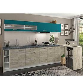 Кухня «Шарлотта» | колір: дуб крафт сірий/індиго Sokme