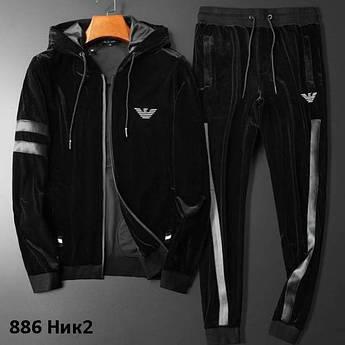 Чоловічий спортивний костюм велюр 886 Ник2
