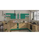 Кухня кутова «Шарлотта»   колір: дуб крафт золотий/абсент Sokme, фото 2