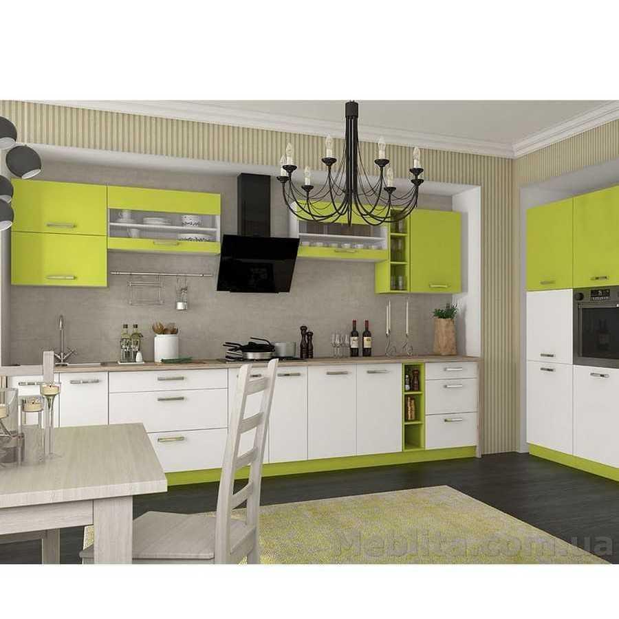 Кухня «Шарлотта» | колір: білий/лайм Sokme