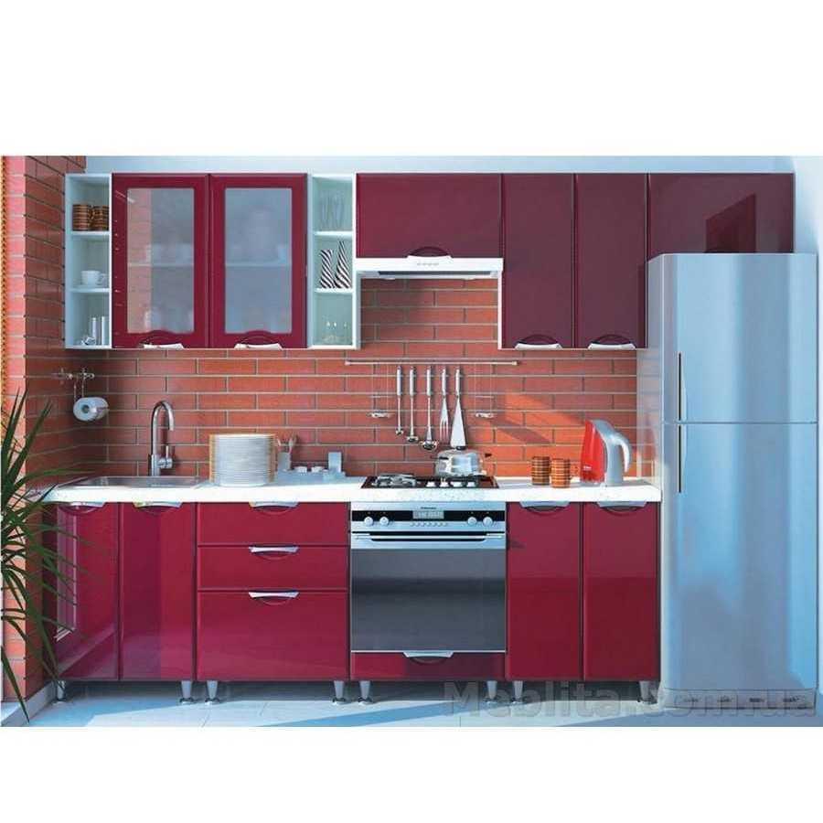 Кухня «СОФИЯ» | фасад Люкс | цвет: бордо глянец Sokme
