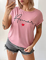 Футболки женские / 10 цветов / Футболка розовая / Футболки с принтом женские / Футболки женские дешево