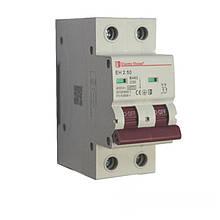 ElectroHouse Автоматичний вимикач 2 полюса 50А