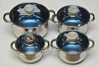 Набор посуды Grand Berg GB-2021 из нержавеющей стали, 18 предметов