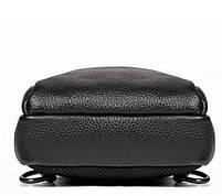 Мужской черный кожаный слинг на плече TIDING BAG A25F-011-1A черная, фото 3