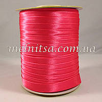 Косая бейка, атласная, цвет ярко-розовый, малиновый
