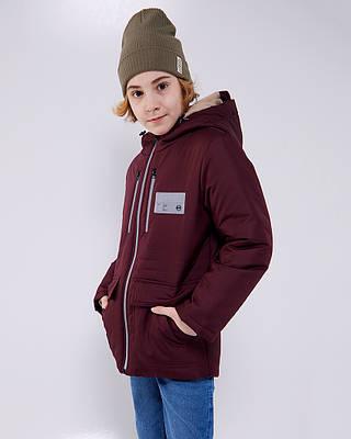 Марк красная детская подростковая демисезонная куртка на мальчика
