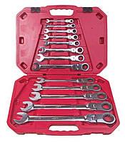 Набор ключей комбинированных, трещоточных с карданом 13 предметов,  8-32 мм. НК-8701-13 Alloid