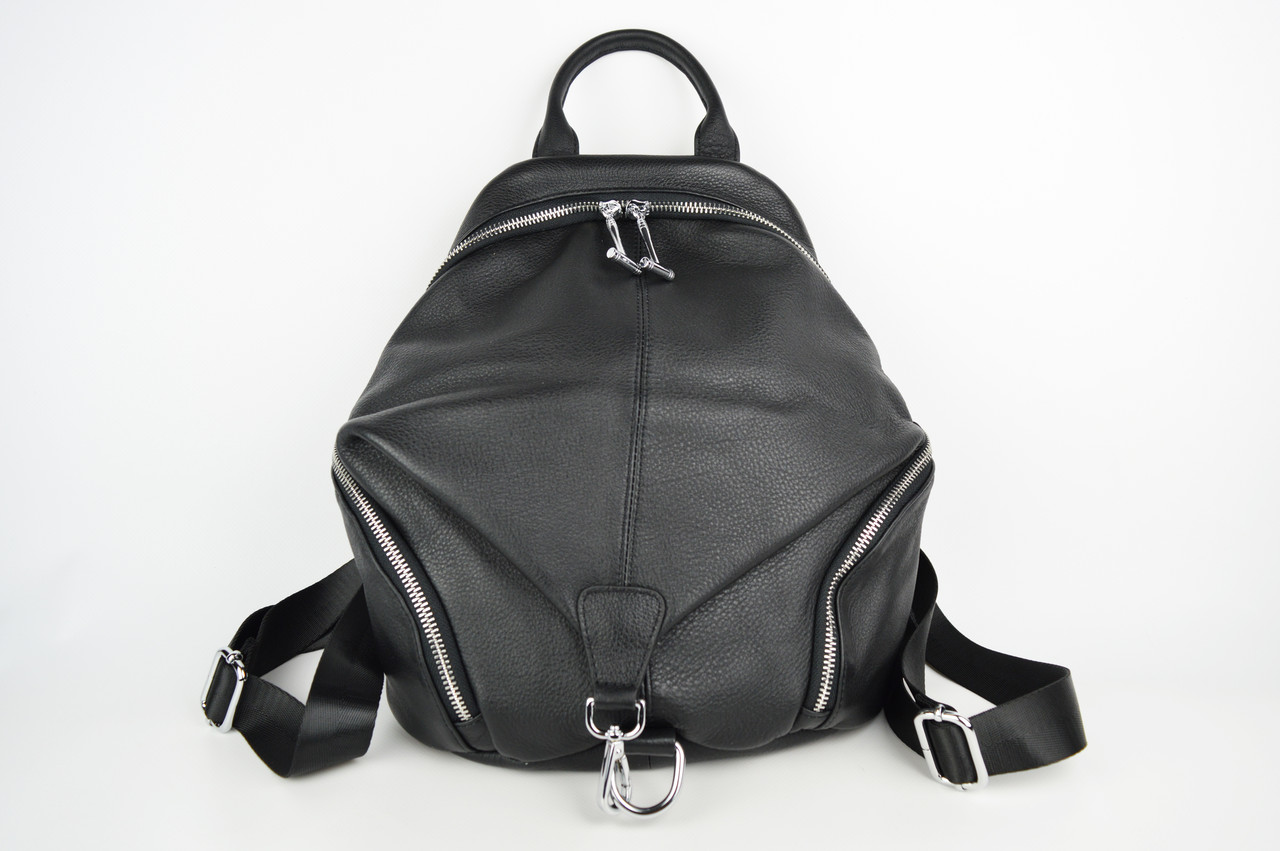 Сумка-рюкзак Polina&Eiterou 18006 Чорний шкіра