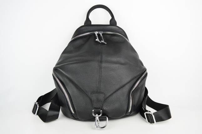 Сумка-рюкзак Polina&Eiterou 18006 Чорний шкіра, фото 2