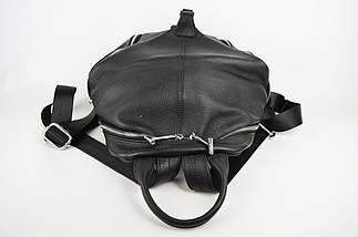 Сумка-рюкзак Polina&Eiterou 18006 Чорний шкіра, фото 3