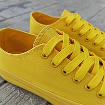 Кеды конверсы желтые низкие женские летние тканевые тряпочные converse женские, фото 3