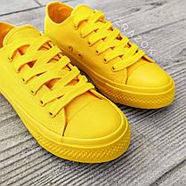 Кеды конверсы желтые низкие женские летние тканевые тряпочные converse женские, фото 2