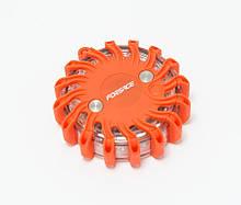 Фонарь переносной светодиодный с магнитом (9 световых режимов, 16 LED, 1хCR23) FORSAGE F-01151