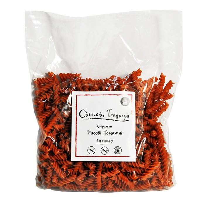 Макароны спиральки рисовые томатные
