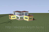 Строительство в крыму канадского элитного дома sip 220мм моносота.