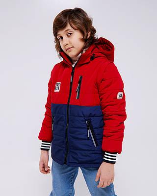 Джастин красная детская подростковая куртка деми на мальчика