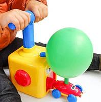 Аэромобиль balloon car машинка с шариком Aerodynamics Reaction FORCE Principle Интерактивная игрушка