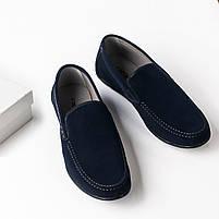 Туфли мужские 8 пар в ящике темно-синего цвета 40-46, фото 3