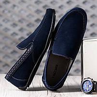 Туфли мужские 8 пар в ящике темно-синего цвета 40-46, фото 4