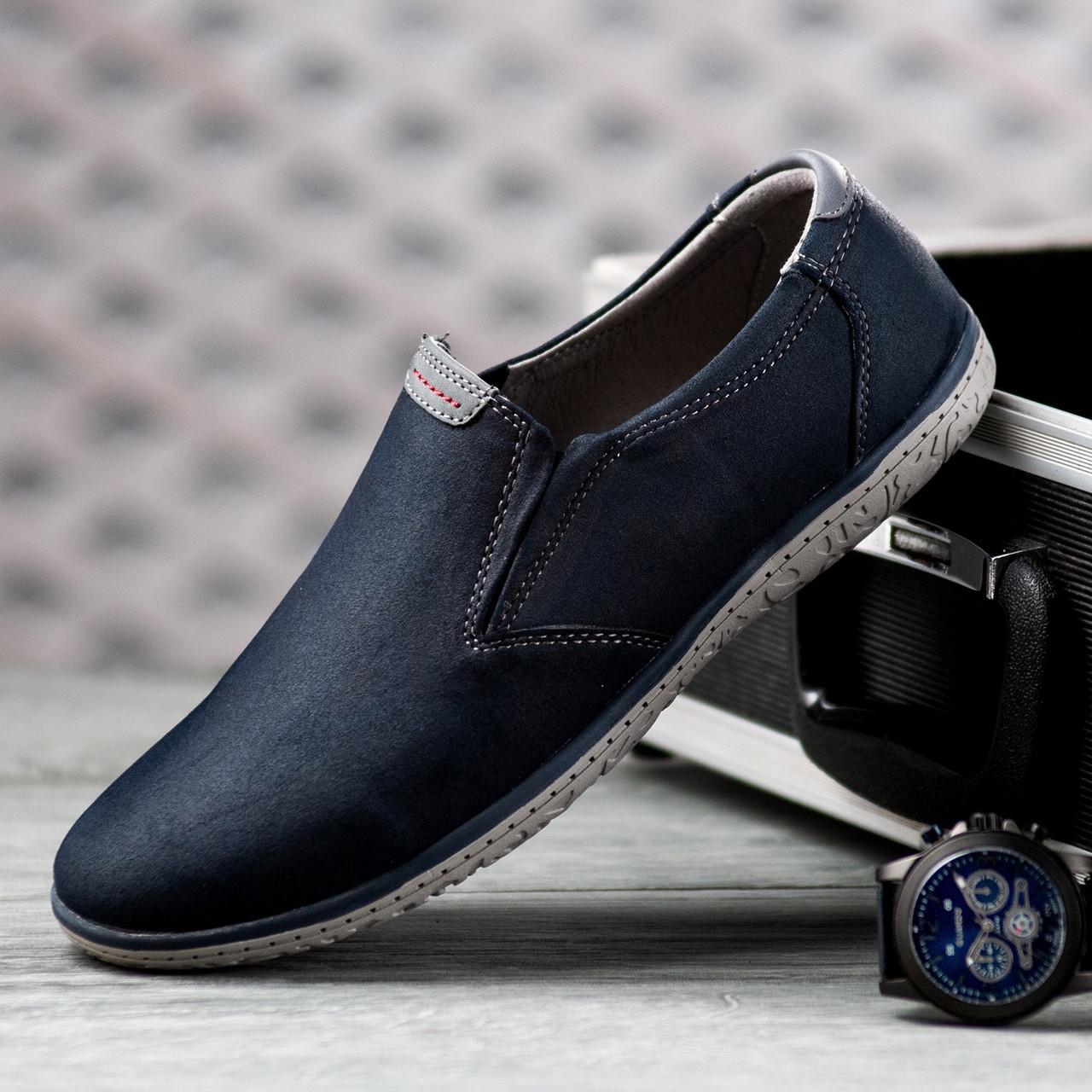 Туфлі чоловічі 8 пар в ящику синього кольору 40-45