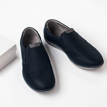 Туфлі чоловічі 8 пар в ящику синього кольору 40-45, фото 2