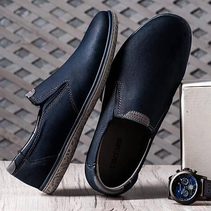 Туфлі чоловічі 8 пар в ящику синього кольору 40-45, фото 3