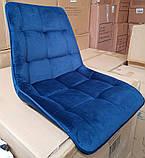 Стілець CHIC Velvet синій ніжки чорні Signal (безкоштовна доставка), фото 8