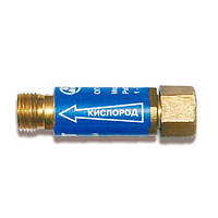Клапан обратный огнепреградительный КОК G1/4 кислород на редуктор Донмет