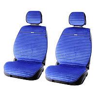 """Накидки сидінь алькантара """"Elegant"""" NAPOLI Синій-світлий (електрик) Передні (700212)"""