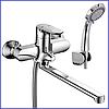 Смеситель для ванны немецкий ЛАТУННЫЙ с длинным поворотным изливом гусаком 35 см MX DONNA - Фото
