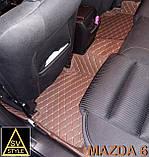 Килимки Mazda 6 Шкіряні 3D (GJ / 2012+) з текстильними килимками, фото 6