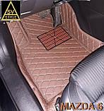 Килимки Mazda 6 Шкіряні 3D (GJ / 2012+) з текстильними килимками, фото 5